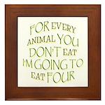 The Anti-Vegetarian Framed Tile