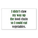 The Anti-Vegetarian Rectangle Sticker