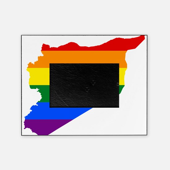 Rainbow Pride Flag Syria Map Picture Frame
