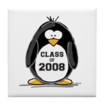Class of 2008 Penguin Tile Coaster