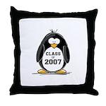 Class of 2007 Penguin Throw Pillow