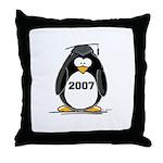 2007 Graduate Penguin Throw Pillow