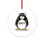 2007 Graduate Penguin Ornament (Round)