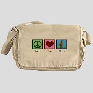 Peace Love Alpacas Messenger Bag