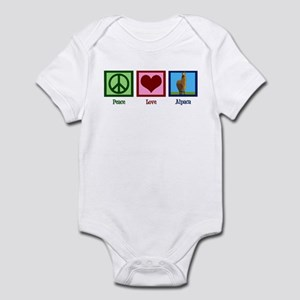Peace Love Alpacas Infant Bodysuit