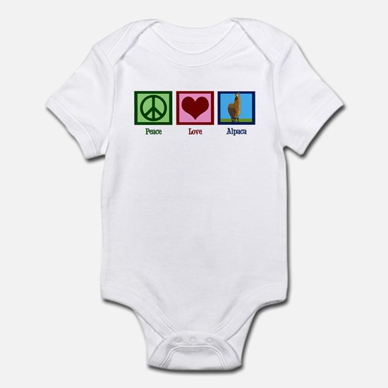 Peace Love Alpacas Infant Bodysuit
