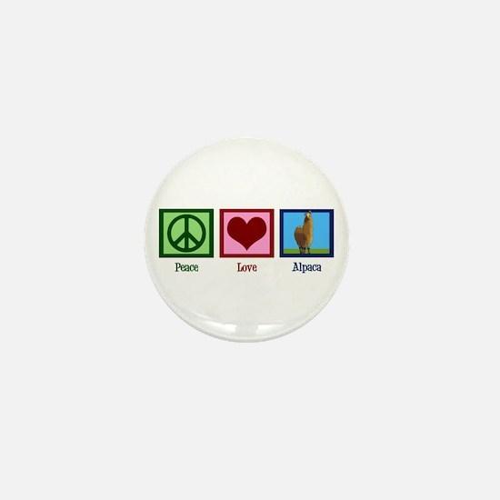 Peace Love Alpacas Mini Button