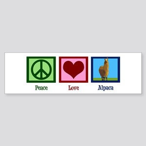 Peace Love Alpacas Sticker (Bumper)