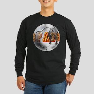 Spanish Soccer Ball Long Sleeve Dark T-Shirt