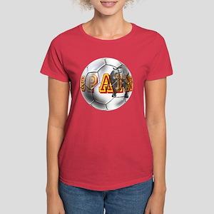 Spanish Soccer Ball Women's Dark T-Shirt