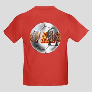 Spanish Soccer Ball Kids Dark T-Shirt