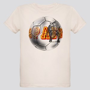 Spanish Soccer Ball Organic Kids T-Shirt