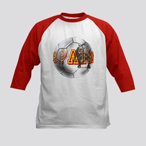 Spanish Soccer Ball Kids Baseball Jersey