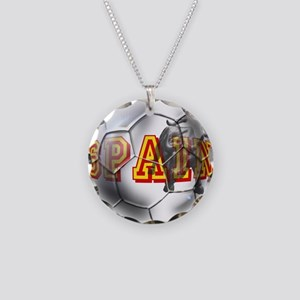 Spanish Soccer Ball Necklace Circle Charm
