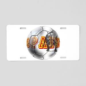Spanish Soccer Ball Aluminum License Plate