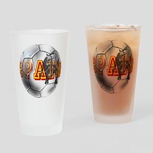 Spanish Soccer Ball Drinking Glass
