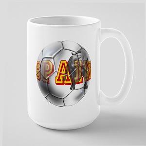 Spanish Soccer Ball Large Mug