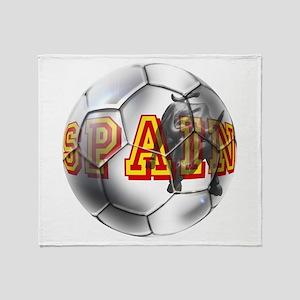 Spanish Soccer Ball Throw Blanket