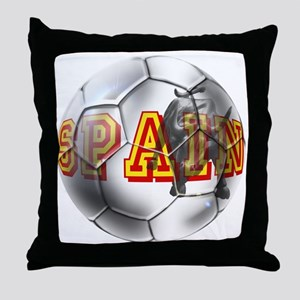 Spanish Soccer Ball Throw Pillow