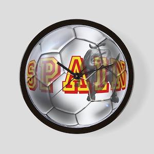 Spanish Soccer Ball Wall Clock