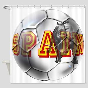 Spanish Soccer Ball Shower Curtain