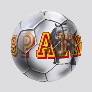 Spanish Soccer Ball Ornament (Round)