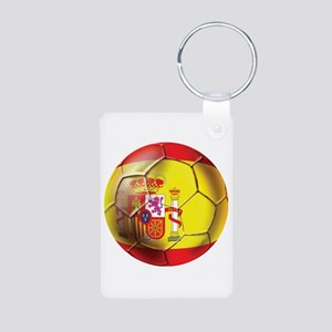 Spanish Futbol Aluminum Photo Keychain