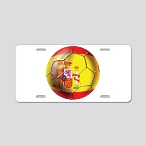 Spanish Futbol Aluminum License Plate