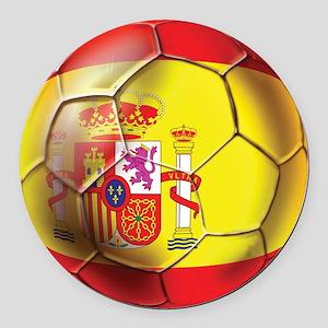 Spanish Futbol Round Car Magnet