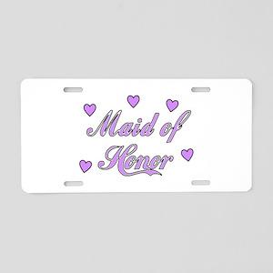 Maid Of Honor Aluminum License Plate