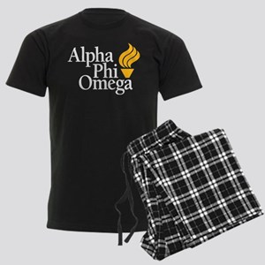 Alpha Phi Omega Fraternity Log Men's Dark Pajamas