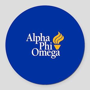 Alpha Phi Omega Fraternity Logo Round Car Magnet