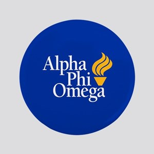 Alpha Phi Omega Fraternity Logo Button