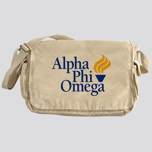 Alpha Phi Omega Fraternity Logo Messenger Bag