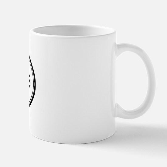 Palm Springs oval Mug
