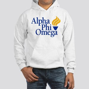 Alpha Phi Omega Fraternity Logo Hooded Sweatshirt