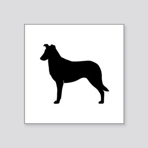 "Smooth Collie Square Sticker 3"" x 3"""