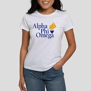Alpha Phi Omega Frat Women's Classic White T-Shirt
