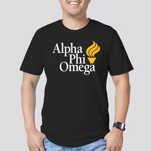 Alpha Phi Omega Frater Men's Fitted T-Shirt (dark)