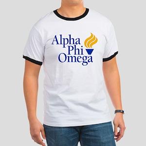 Alpha Phi Omega Fraternity Logo Ringer T