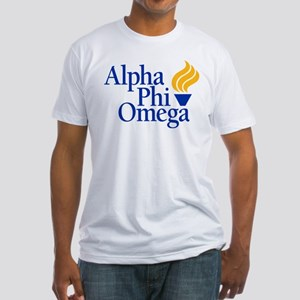 Alpha Phi Omega Fraternity Logo Fitted T-Shirt