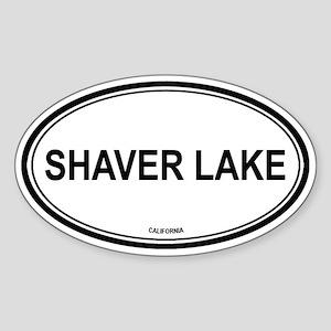 Shaver Lake oval Oval Sticker