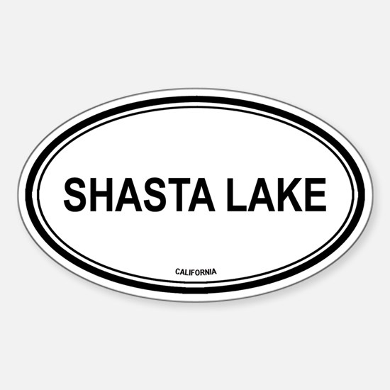 Shasta Lake oval Oval Decal