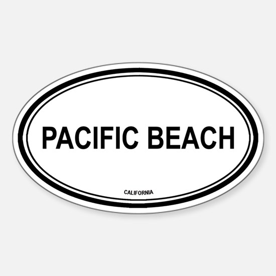 Pacific Beach oval Oval Decal