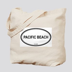 Pacific Beach oval Tote Bag