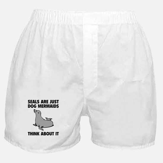 Dog Mermaids Boxer Shorts