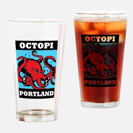Octopi Portland Drinking Glass