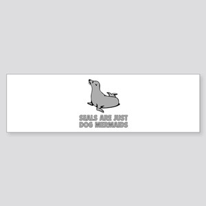 Dog Mermaids Sticker (Bumper)