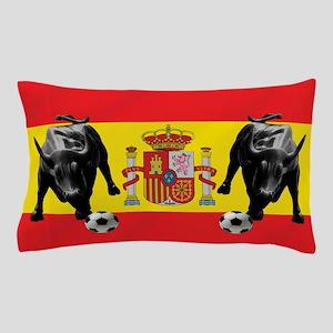 Spanish Football Bull Flag Pillow Case