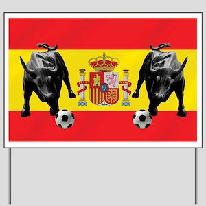 Spanish Football Bull Flag Yard Sign